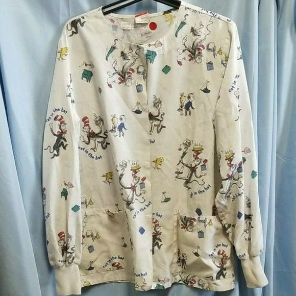 Vintage Cat in The Hat Top Dr. Seuss Size XS Snap
